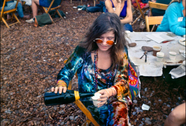 Janis Joplin at Woodstock in 1969.