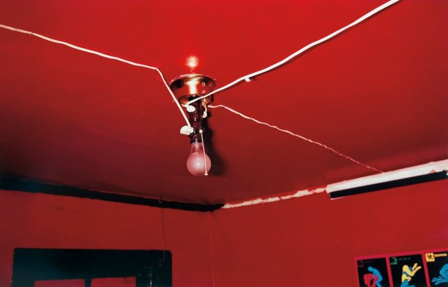 "William Eggleston ""The Red Ceiling"" one of his  most famous photographs."