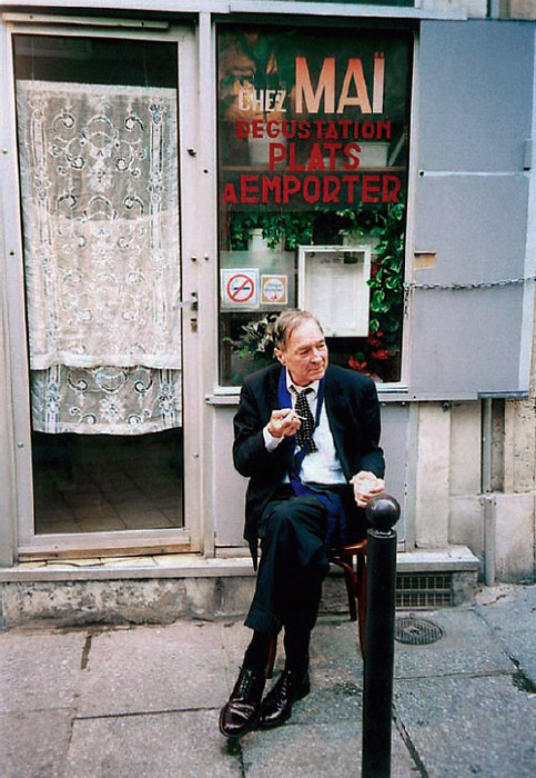 William Eggleston in Paris 2008.