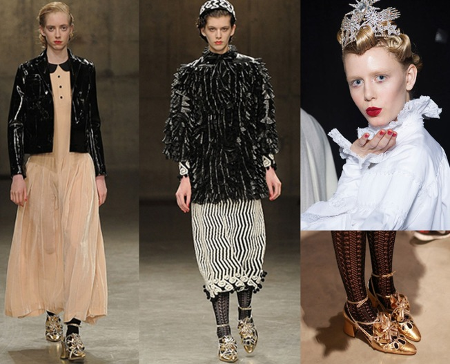 Super cool Gold Shoes & Head Pieces.