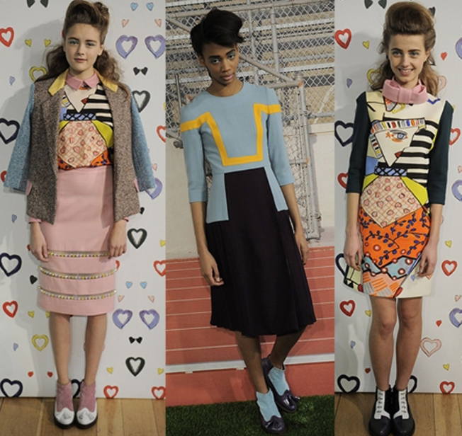 50's vibe and cool prints at Tata-Nakka AW13.