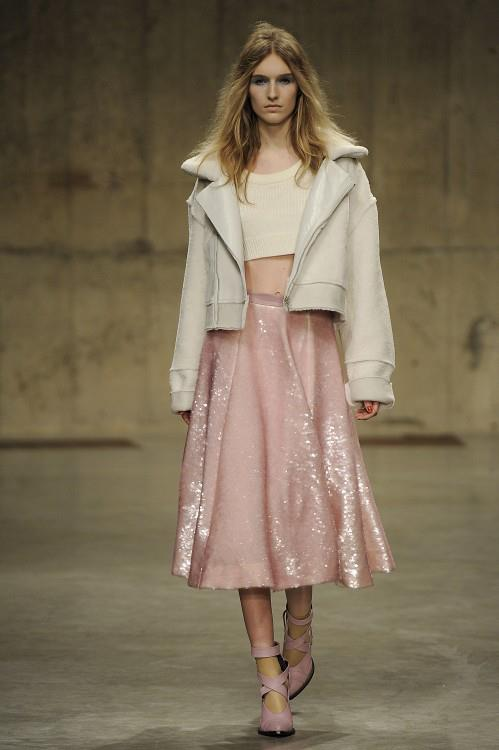 Powder Pink and Sequins, very popular at LFW.