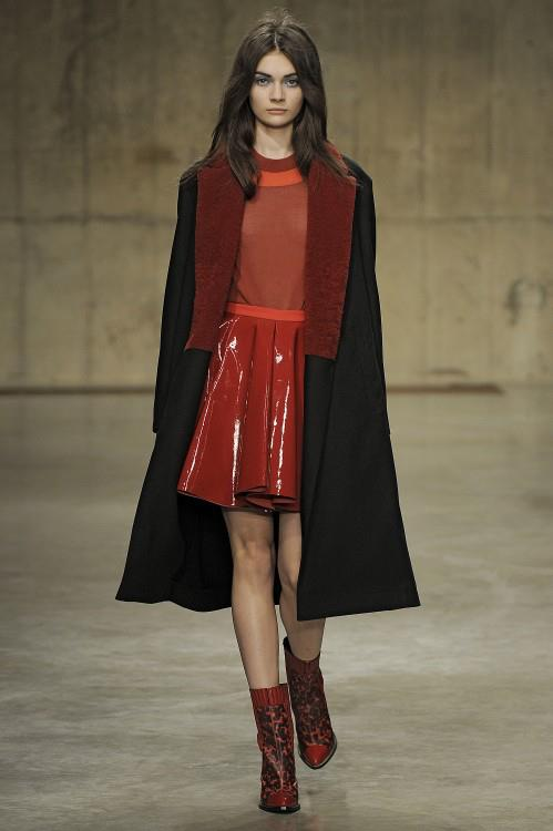 Red and Patent Leather, two big trends for AW13.