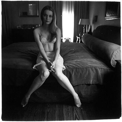 Mia Farrow by Diane Arbus